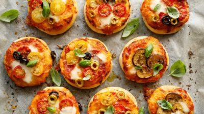 Mini pizzas provençales.