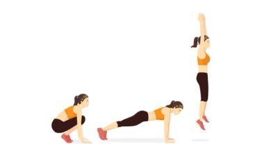 Les 6 meilleurs exercices fonctionnels : Burpees.