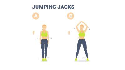 Cardio pour les débutants : 10 min par jour d'exercices faciles à réaliser à la maison. Jumping jacks.